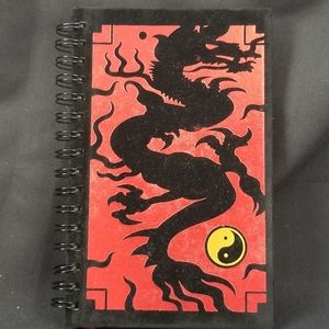 """NEW - BLACK AND RED YING YANG JOURNAL 8 1/2"""" X 6"""""""